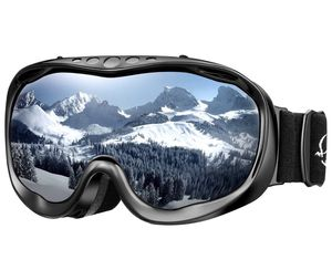 Ski Goggles OTG Snowboard Goggles - Dual Lens, Anti-Fog, 100% UV400 Protection Helmet Compatible Snowmobile Goggles for Men, Women, Youth & Kids Skii for Sale in The Bronx, NY