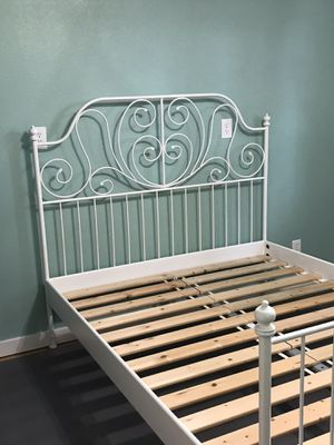 Ikea Leirvik Queen Bed Frame & Slats for Sale in Camas, WA