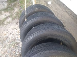 Set of 4 225/60/16 inch Michelin tires in good condition with about 70% tread left on them for Sale in Dona Vista, FL