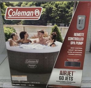 """Looking for a pool? Coleman Spa 71"""" x 26"""" Havana AirJet Inflatable Hot Tub with Remote Control, 2-4 person. for Sale in Cherry Hill, NJ"""