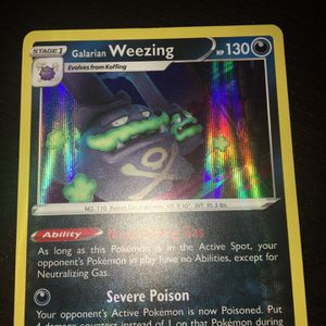 Pokemon Holographic Galarian Weezing for Sale in Elk Grove, CA