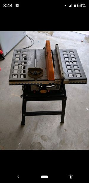 10 inch table saw just needs throat plate for Sale in Bakersfield, CA