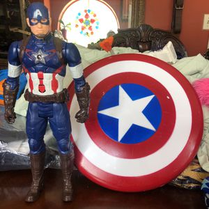 "Marvel's Captain America action figure 11"" captain america shield for Sale in Miami, FL"