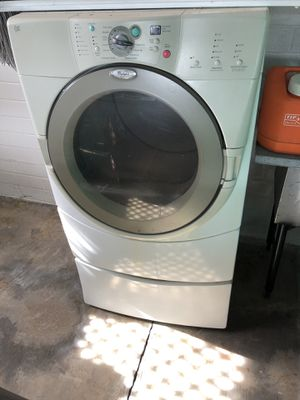 Dryer with pedestal 27 wide 51 tall for Sale in Phoenix, AZ