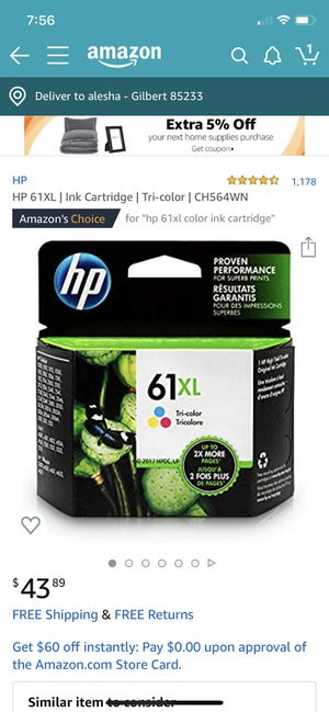 Hp xl multicolored ink cartridge for Sale in Gilbert, AZ