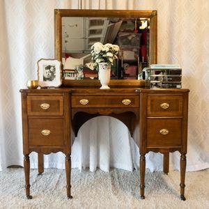 Vintage Vanity or Desk with Italian Mirror for Sale in Irvine, CA