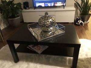 Black contemporary coffee table 35X21 for Sale in Fairfax, VA