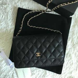 Chanel WOC Wallet on Chain Caviar Leather (Bag, Purse, Crossbody, Handbag) for Sale in San Jose, CA