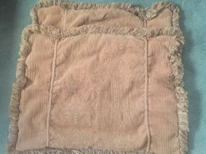 Two pillow shams / cases. Browns, earth tones, very thick for Sale in Riverview, MI