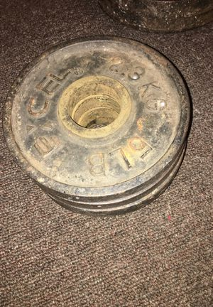 5lbs weight set for curl bar (4) plates in total for Sale in Carson, CA