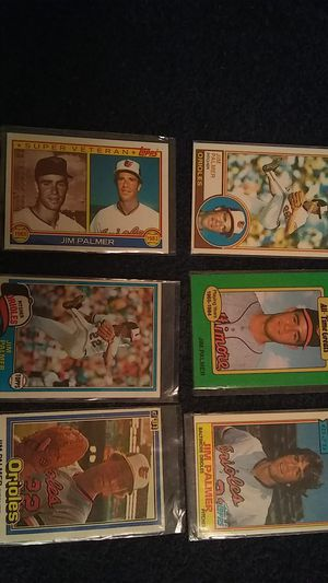JIM PALMER BASEBALL CARDS for Sale in Cleveland, OH