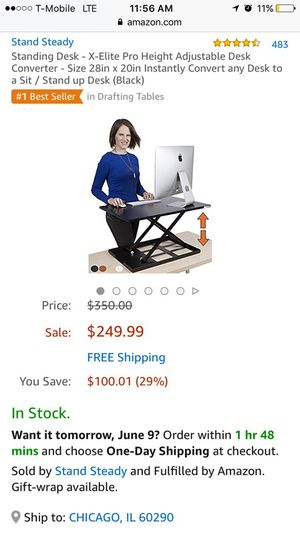 Stand up desk for Sale in Chicago, IL