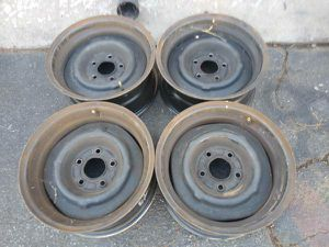 original steelie wheels, 15x7 Chevy and GM cars or S10 truck 5 on 4.75 for Sale in Montebello, CA