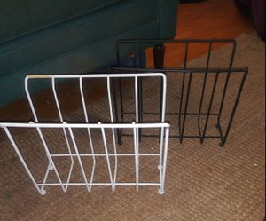 Small Plastic-coated Metal Magazine Racks $5.00 each for Sale in Fort Worth, TX