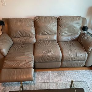 Grey Italian Leather Couches for Sale in Atlanta, GA