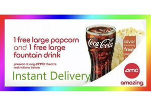 AMC 1 Free Large Drink & 1 Large Popcorn. Exp Dec 2020 for Sale in Costa Mesa, CA