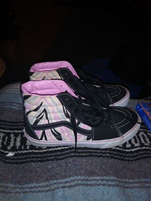 Girls Vans size 7 slightly used for Sale in Hagerstown, MD