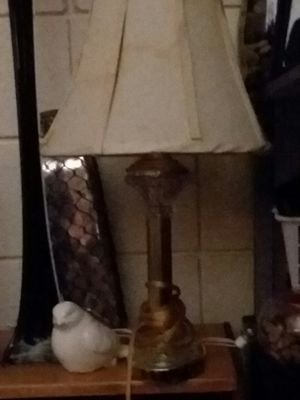 Set of 2 crystal lamps for Sale in Edinburg, PA