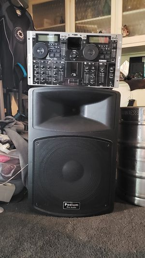 Numark ICDMIX3, Podium pro Audio speaker for Sale in Las Vegas, NV