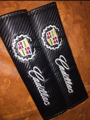 Two Cadillac seatbelt cover for Sale in Victorville, CA