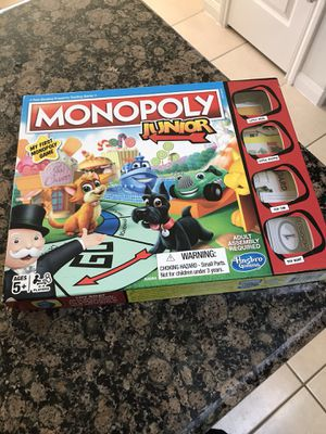 Monopoly game for kids for Sale in Rosharon, TX
