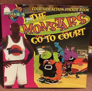Space jam sticker book monsters go to court and Michael Jordan 1996 for Sale in Oroville, CA