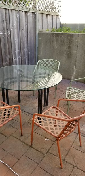 Glass Patio Table for Sale in Brisbane, CA
