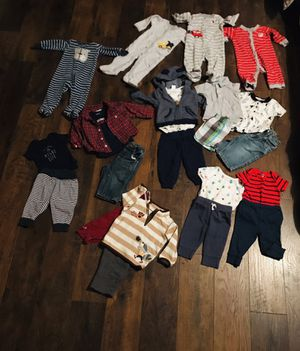 Baby boys 6 - 9 months clothing lot Carters Greendog and more for Sale in Renton, WA