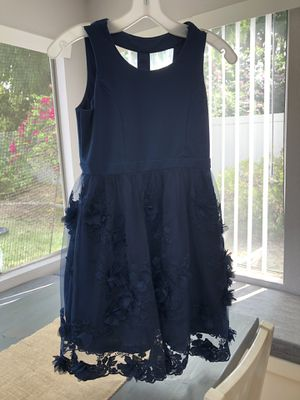 Girl's navy blue special occasion dress size 12 for Sale in Chula Vista, CA
