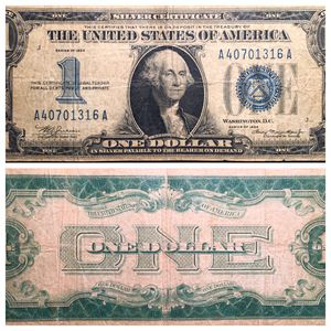"""Funny Back"" Silver Certificate One Dollar Bill 1934 Series for Sale in Geneva, IL"