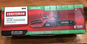"""Craftsman 74931 24V Max 10"""" Electric Cordless Chainsaw for Sale in Glendale Heights, IL"""
