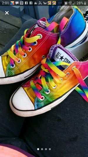 Rainbow converse all stars for Sale in Coats, NC