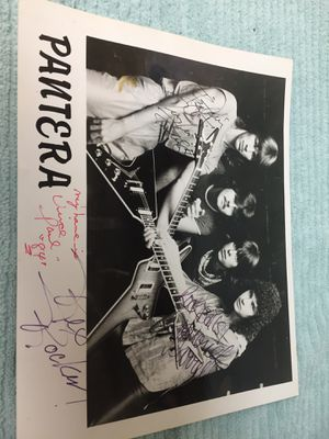 Pantera original band with Daryl dimebag autographs 1984 for Sale in Houston, TX
