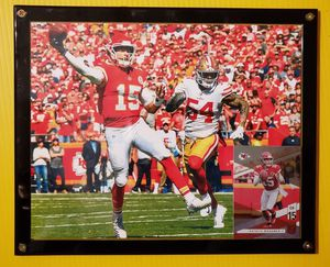 PATRICK MAHOMES and 49ers 8x10 Framed Picture with football card. for Sale in Wichita, KS