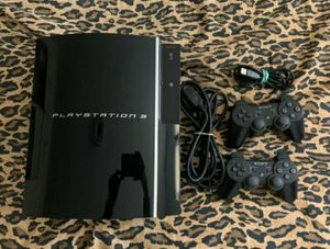 PS3 Fat with 2 controllers and games for Sale in Bothell, WA