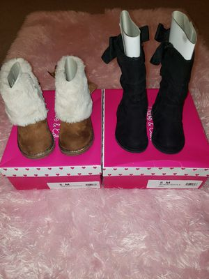 BUNDLE - TWO [2] Pair of Baby Girl Boots for Sale in Audubon, PA