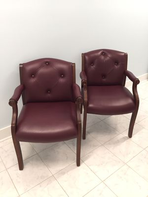 2 Guest Chairs- Burgundy/Mahogany Finish by Boss (Orig. $360+) for Sale in Beaufort, SC