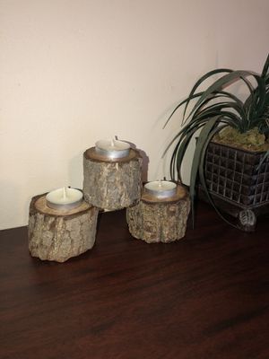 Home Decor Candle holders made with Walnut wood for Sale in Gahanna, OH