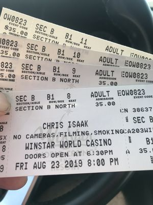 Winstar casino concert for This Friday $15 dollar tickets for Sale in Dallas, TX