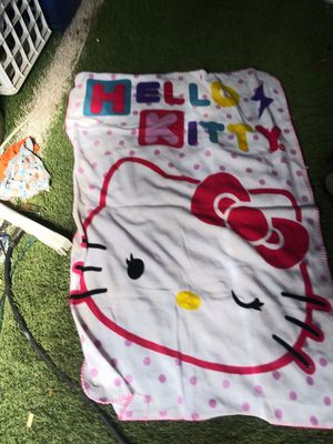 Toddler hello kitty blanket for Sale in San Marcos, TX