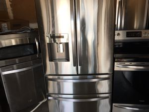 Beautiful stainless steel package fridge stove dishwasher microwave for Sale in Orlando, FL