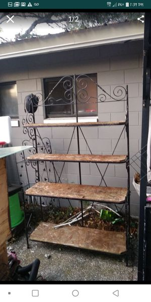 """""""Bakers shelf"""" iron and wood shelves for Sale in Auburndale, FL"""