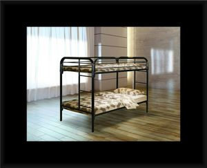 Twin bunk bed frame with mattress for Sale in Lanham, MD