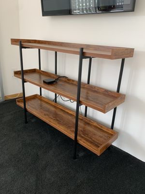 Three tier book shelf and media stand for Sale in Los Angeles, CA
