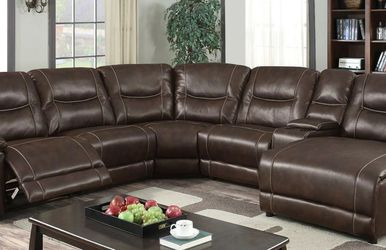 Wrangler Collection Brown Reclining Sectional Sofa for Sale in Fort Worth,  TX