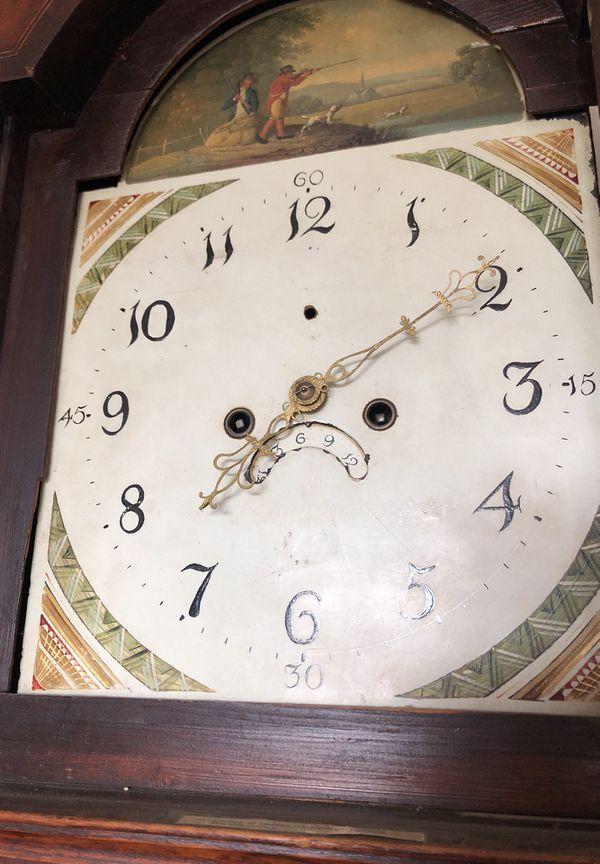 Antique 18th Century King George III Era Grandfather Clock