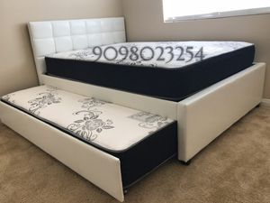 FULL/TWIN TRUNDLE BEDS W ORTHOPEDIC MATTRESS INCLUDED for Sale in Glendora, CA