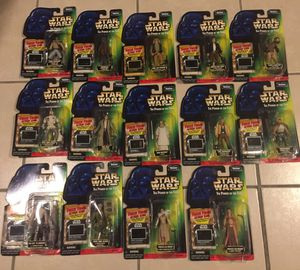 Fourteen 1997 Kenner Star Wars Power of the Force Toys Action Figures Mint one Card for Sale in Brooklyn, NY