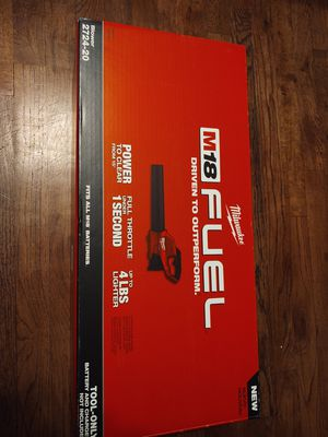 Milwaukee m18 blower fuel brushless new firm price ((( no battery no charger))) text me if you have 120 or I'll block you for Sale in Modesto, CA