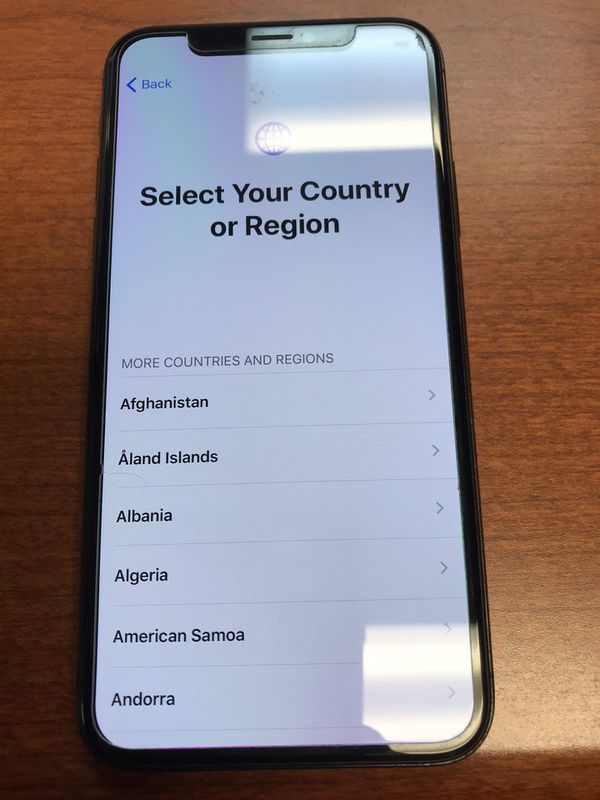 iPhone X clean iMEI not blacklisted